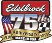 Edelbrock 75th Anniversary Logo